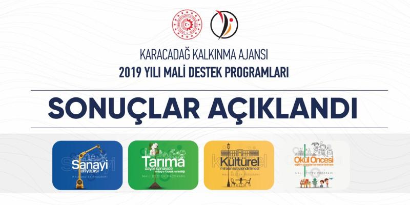 2019 Yılı Mali Destek Programları Sonuçlandı